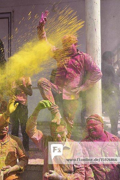 India  Uttar Pradesh  Holi festival  Colour and spring festival celebrating the love between Krishna and Radha.
