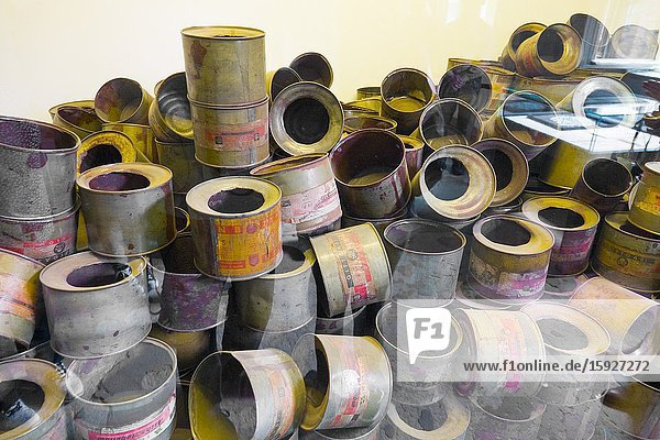 Empty Gas Cans Auschwitz Birkenau Concentration Camp OŠ›wiÄ. cim Museum Southern Poland Europe EU UNESCO.