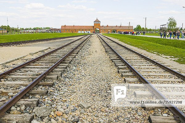 Train Tracks Auschwitz Birkenau Concentration Camp OŠ›wiÄ. cim Museum Southern Poland Europe EU UNESCO.