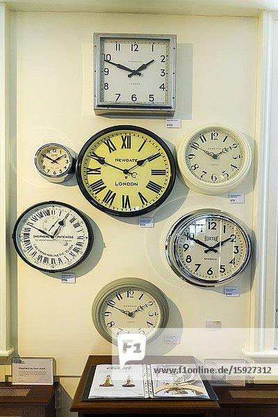 Clock Display Royal Observatory Greenwich England Prime Meridian Zero Longitude Hemispheres London UK Europe EU.