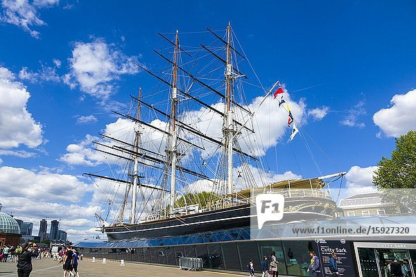 Cutty Sark Tea Ship Greenwich England Prime Meridian Zero Longitude Hemispheres London UK Europe EU.