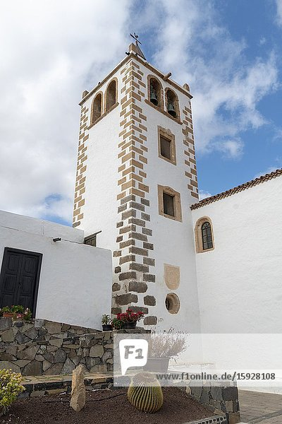 Fuerteventura Canary islands Spain on December 13  2019. The historic town of Betancuria. Church of Saint Mary.