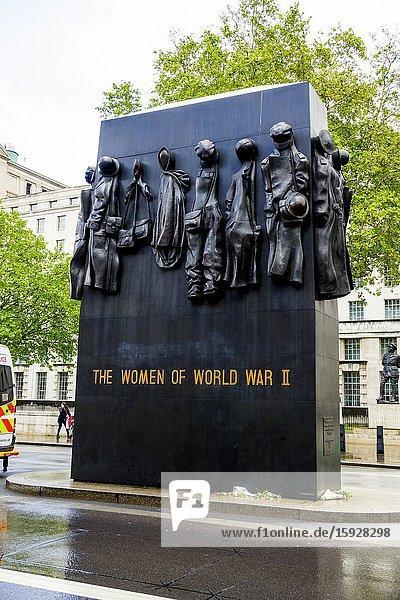 Women World War II Memorial London England United Kingdom Capital River Thames UK Europe EU.