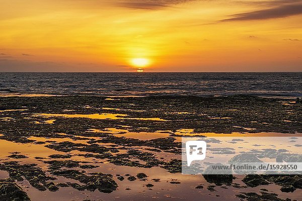 Sunset at Batu Bolong Beach  Canggu  Bali  Indonesia.