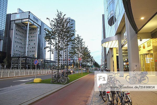 ROTTERDAM  NETHERLANDS - JUNE 6: This city is the architectural capital of the Netherlands on June 6  2014 in Rotterdam. Very spectacular new building projects will give even more international recognition.
