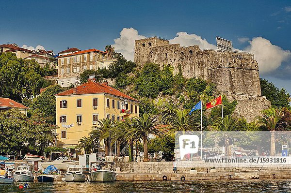 View of town from the water  Herceg Novi  Montenegro.