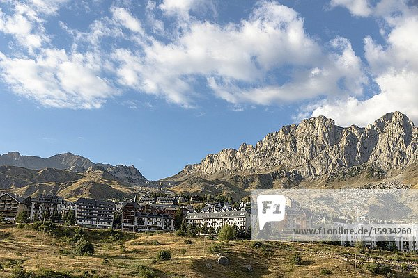 Mountains in Tena valley Huesca Aragon Spain.