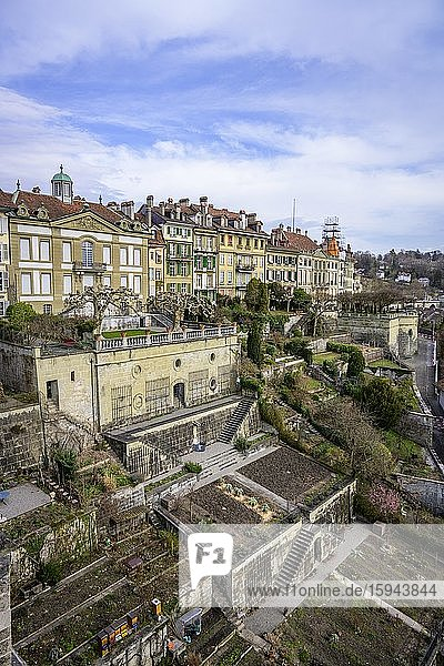 View from the cathedral platform to the old town of Bern  Inner City  Bern  Canton of Bern  Switzerland  Europe