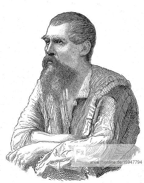Richard Burton  1821-1890  britischer Entdecker  Geograph  Schriftsteller  Orientalist  Kartograph und Ethnologe  1886  Frankreich  Europa