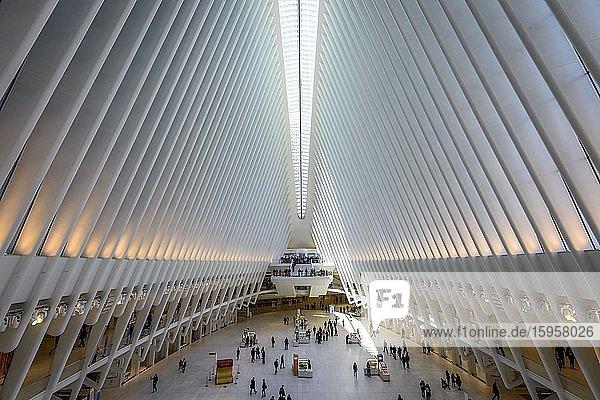 U-Bahnhof Oculus Station  World Trade Center Transportation Hub  New York Metro  Ground Zero  World Trade Center  New York City  USA  Nordamerika