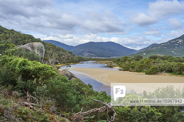 Tidal river  Wilsons-Promontory-Nationalpark  Victoria  Australien