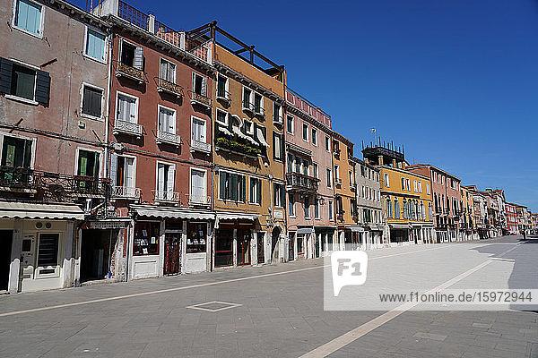 Viale Garibaldi während der Sperrung des Coronavirus  Venedig  UNESCO-Weltkulturerbe  Venetien  Italien  Europa
