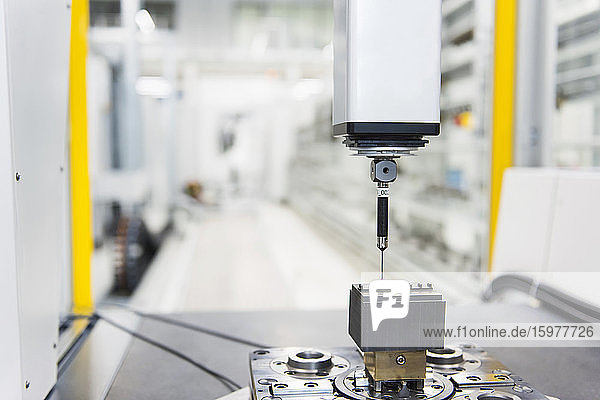 Close-up of a machine in factory