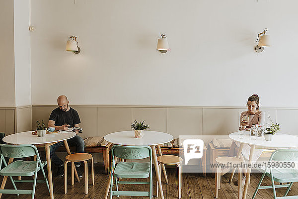 Guests in a coffee shop