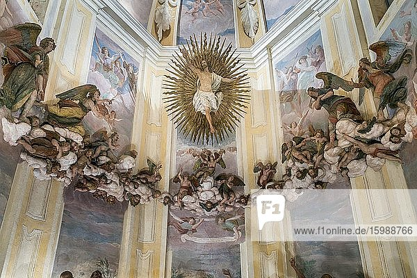 Terracotta figures  Ascension  Chapel XII  Sacred Mount of Varese Pilgrimage  Baroque  UNESCO World Heritage  Varese  Lombardy  Italy  Europe
