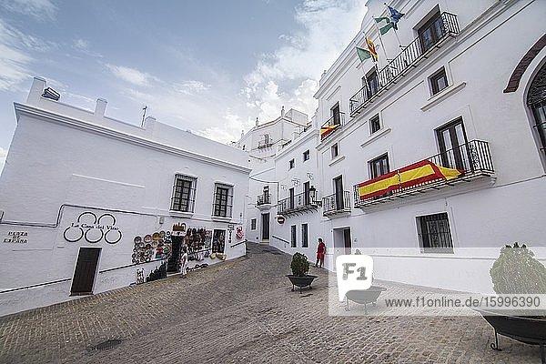 Vejer de la Frontera white village in Cadiz province Andalusia Spain The city hall