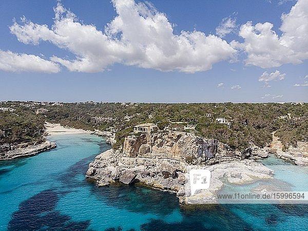 Cala Llombards  Santanyi  Mallorca  Balearic Islands  Spain. Image taken during the Covid-19 pandemic lockdown.