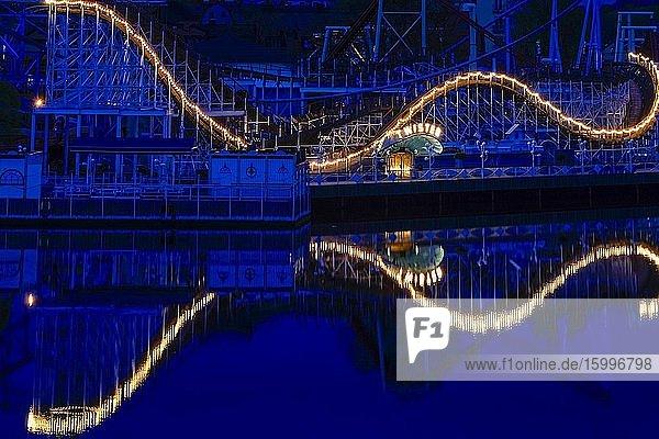 Stockholm  Sweden The Grona Lund amusement park at dawn.