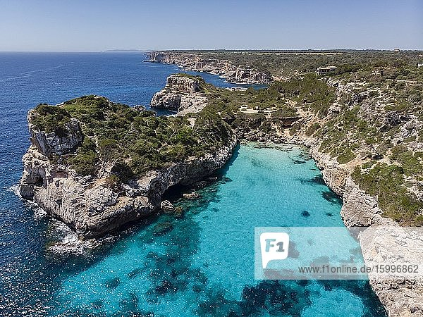 Calo des Moro  Santanyi  Mallorca  Balearic Islands  Spain. Image taken during the Covid-19 pandemic lockdown.