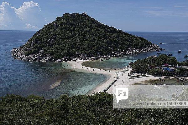 Panoramic view of the Nang Yuan Island near Koh Tao  Thailand.