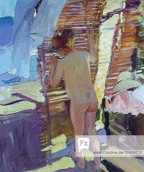 Joaqu?n Sorolla Y Bastida - Inquisitive Child 1916.