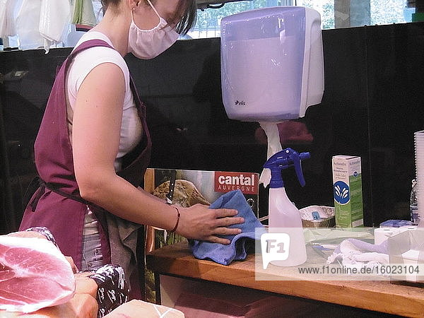 Hygiene in einem Markt