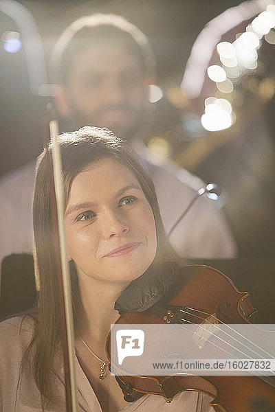 Smiling violinist
