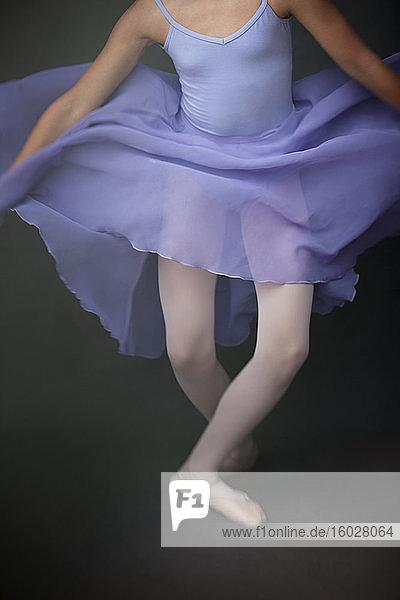 Ballerina beim Auftritt