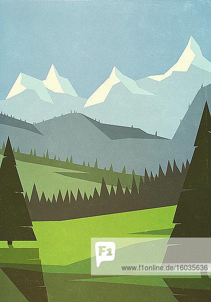 Malerische Berglandschaft