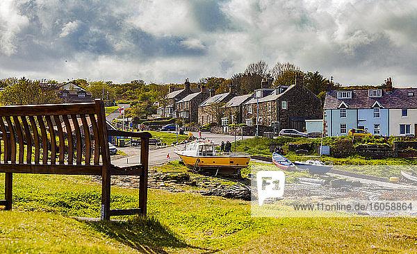 Blick auf Craster  ein kleines Fischerdorf in Northumberland  England; Craster  Northumberland  England