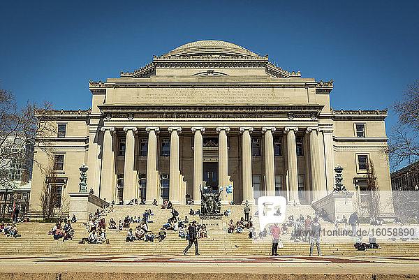 Low Memorial Library  Columbia University  Upper Manhattan; New York City  New York  Vereinigte Staaten von Amerika