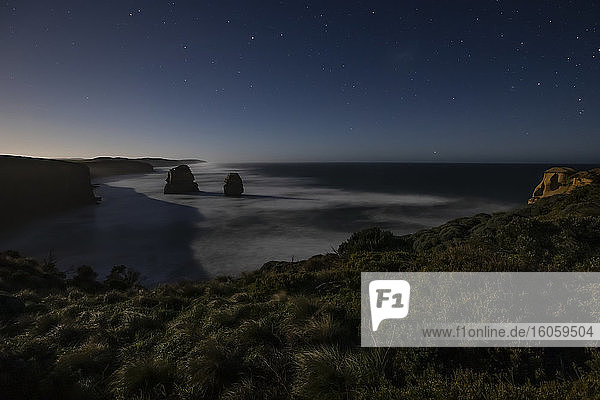 After dark at The Twelve Apostles Lookout  Great Ocean Road; Port Campbell  Victoria  Australia