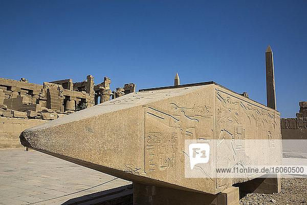 Fallen Obelisk of Hatshepsut  Karnak Temple Complex  UNESCO World Heritage Site; Luxor  Egypt