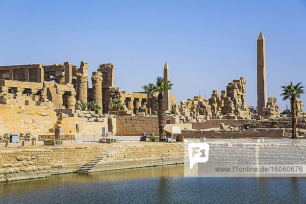 Sacred Lake  Karnak Temple Complex  UNESCO World Heritage Site; Luxor  Egypt