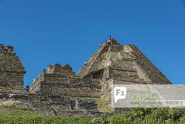 Tonina  the pre-Columbian archaeological site and ruined city of the Maya civilization; Chiapas  Mexico