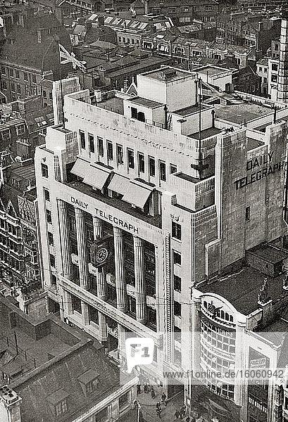 Das Zeitungsgebäude des Daily Telegraph  Fleet Street  London  England. Aus The Spirit of London  veröffentlicht 1935
