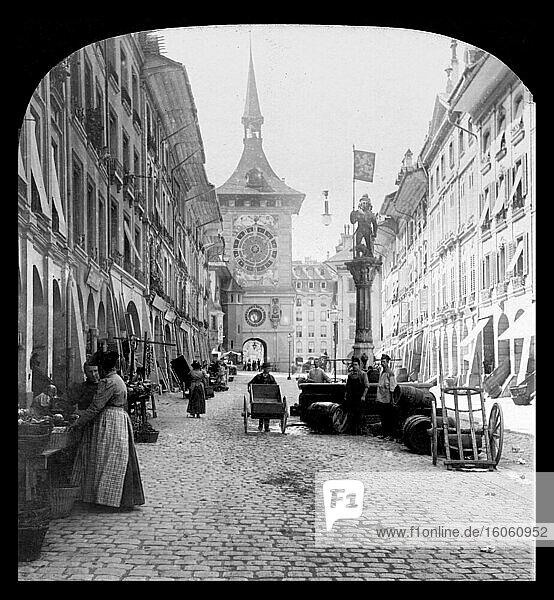 berne Switzerland street pre 1900