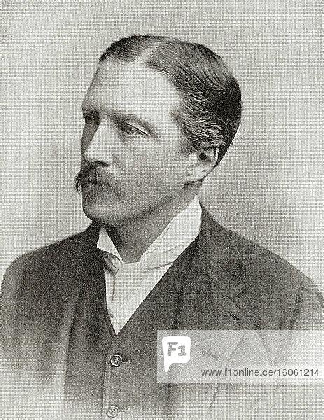 Edward Cecil Guinness  1. Graf von Iveagh  1847 - 1927. Irischer Geschäftsmann und Philanthrop. Aus The Business Encyclopaedia and Legal Adviser  veröffentlicht 1907.