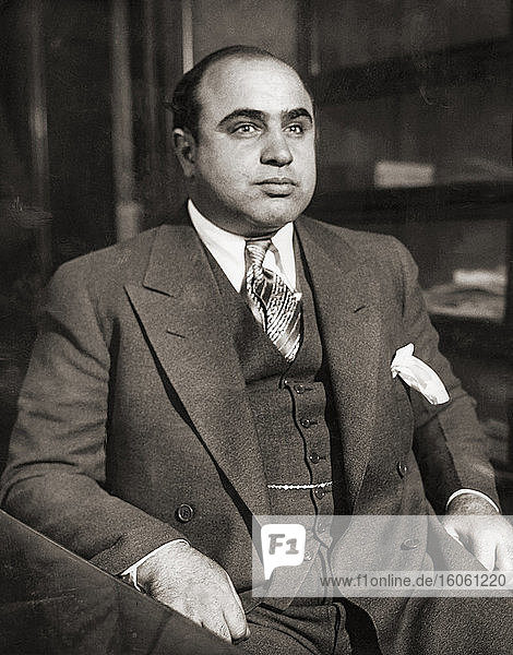 Alphonse Gabriel Al Capone  1899 – 1947  aka Scarface. American gangster and businessman. From a police photograph taken circa 1931.
