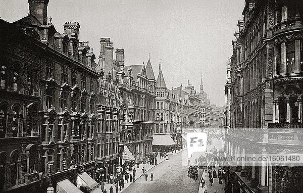 Corporation Street  Birmingham  England. Aus The Business Encyclopaedia and Legal Adviser  veröffentlicht 1907.