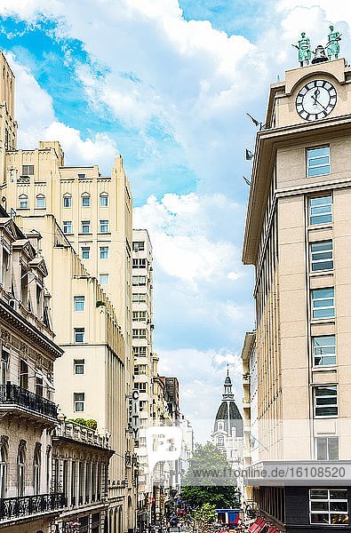 Buenos Aires  Argentina  A shopping street with classic buildings in the city center