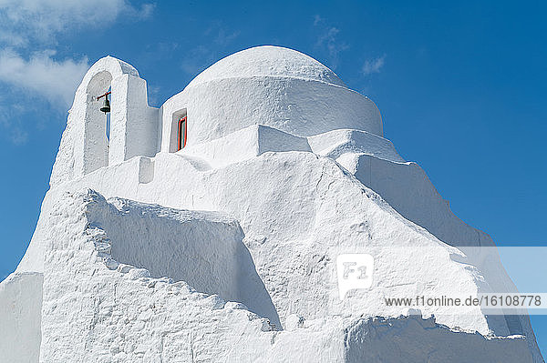 Greece  Mykonos  Chora  the Panagia Paraportiani orthodox church in the Kastro seafront
