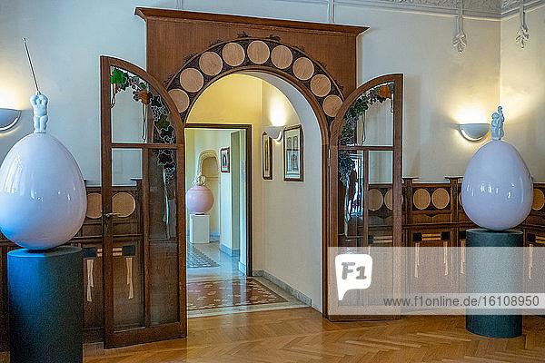 Rome  Italy  Villa Torlonia  the interior of the Casina delle Civette (cottage of the owls)