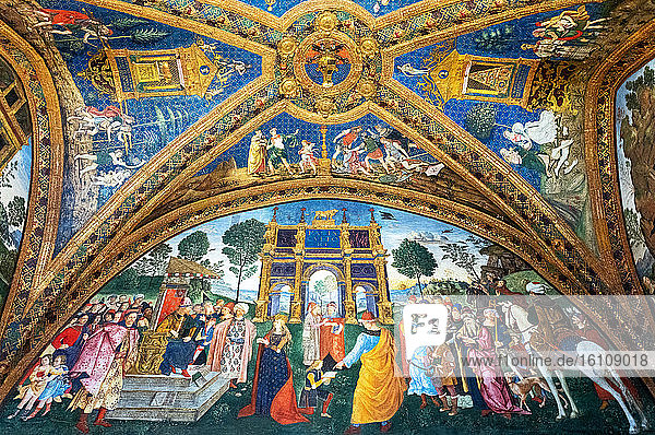 Rome  Italy  Vatican Museums  Borgia apartment  frescoes by Pinturicchio