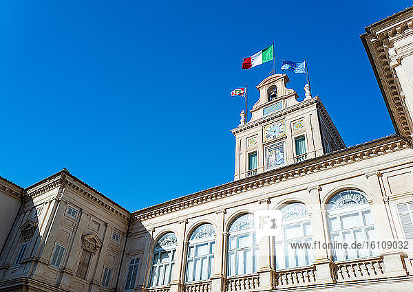 Rome  Italy  The clock tower (il Torrino) over the courtyard of the Quirinale palace