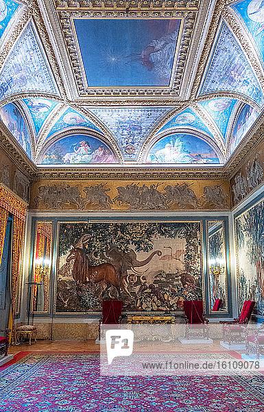 Rome  Italy  The Dello Zodiaco room in the Quirinale palace