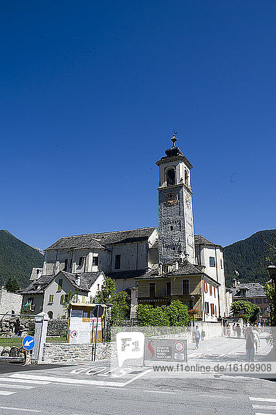 Europe  Italy  Santa Maria Maggiore  S. Maria Assunta Church Vigezzo valley  Piedmont  country of chimney sweeps