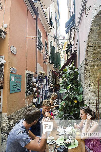 Europe  Italy  Liguria  Ligurian  La Spezia  Monterosso  Cinque Terre town.