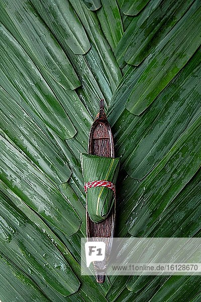 The dragon boat and zongzi