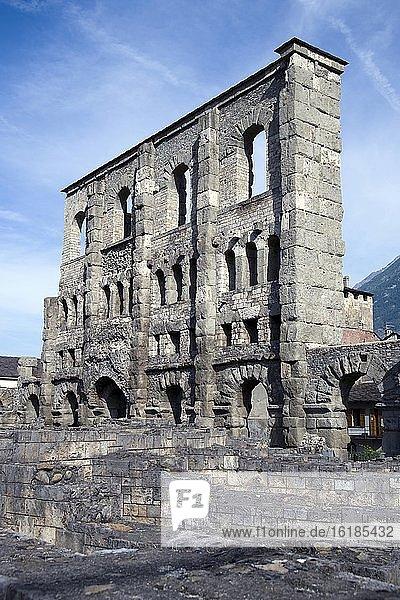 Freiluftmuseum Aosta,  römisches Theater,  Aosta,  Aostatal,  Italien,  Europa